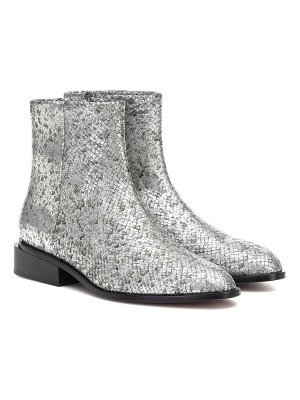 CLERGERIE xenon metallic leather ankle boots