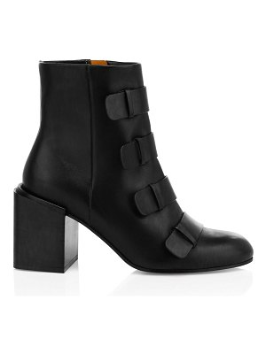 CLERGERIE xina leather strappy booties