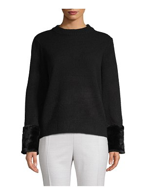 Clich Classic Faux Fur-Trimmed Sweater