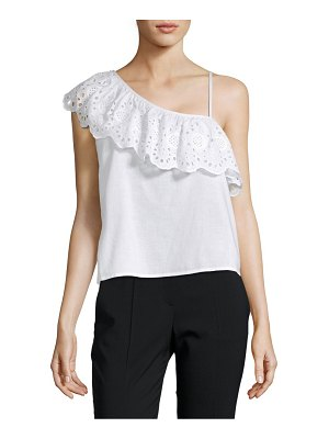 Clich One-Shoulder Eyelet Top
