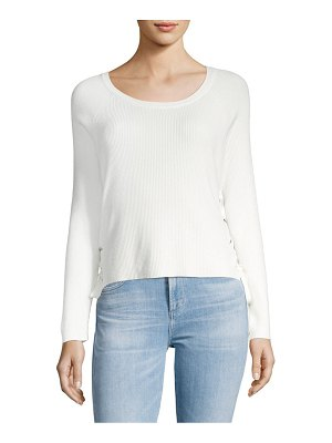 Clich Side Lace-Up Sweater