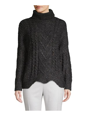 Clich Textured Cable-Knit Sweater
