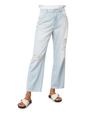 Closed gill ripped straight leg jeans