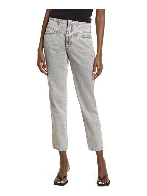 Closed pedal pusher organic cotton jeans
