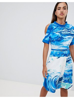 Closet London a line printed dress
