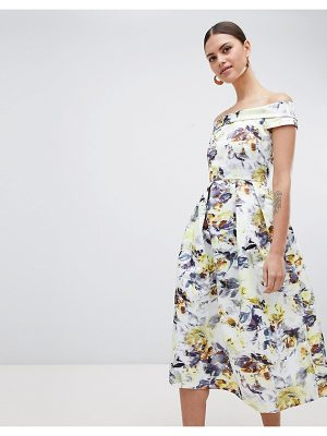 Closet London bardot floral midi dress