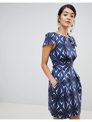 Closet London cap sleeve pencil dress