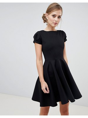 Closet London cap sleeve prom skater dress