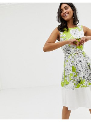 Closet London closet floral belted border dress