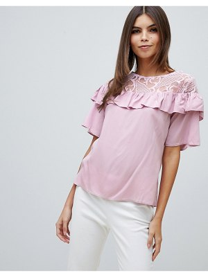 Closet London closet frill lace detailed blouse
