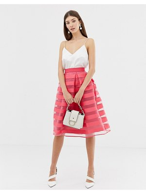 Closet London closet stripe pleat full skirt