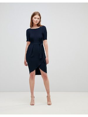 Closet London closet tie front dress with kimono sleeve
