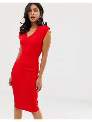 Closet London closet v neck bodycon dress