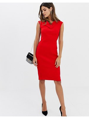 Closet London closet v-neck long darts pencil dress