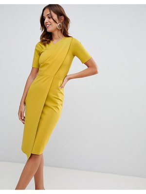 Closet London draped jersey dress