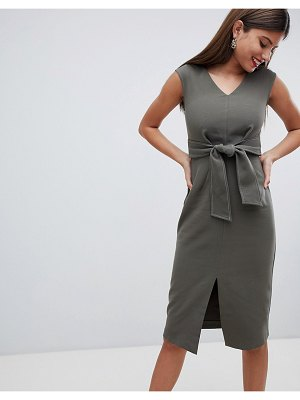Closet London Dress With Waist Tie