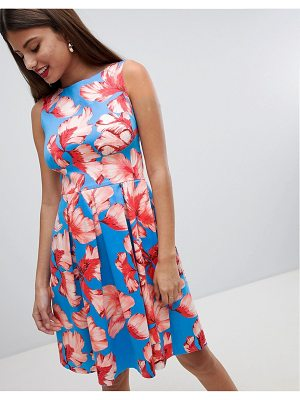 Closet London Floral Pleated Dress