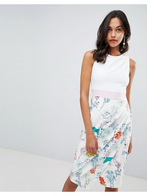 Closet London floral skirt pencil dress