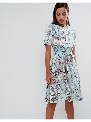 Closet London floral tie waist dress