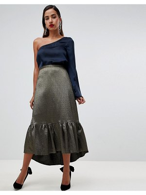 Closet London frill high low skirt