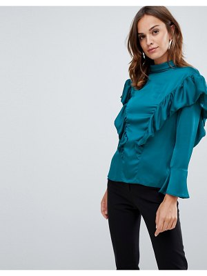 Closet London frill shoulder blouse