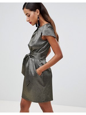 Closet London metallic tulip dress