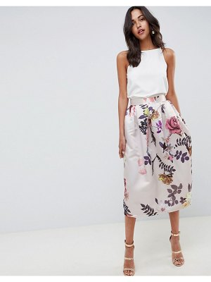 Closet London midi floral skirt