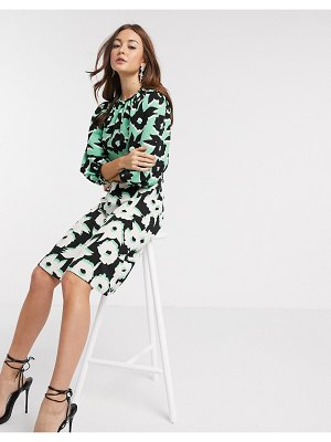 Closet London mini dress in abstract floral-multi