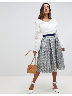 Closet London pleated checked
