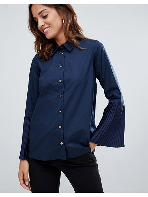 Closet London pleated cuff shirt