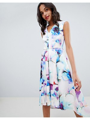 Closet London printed midi prom dress