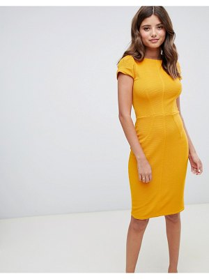 Closet London ribbed pencil dress