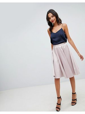 Closet London sateen midi skirt