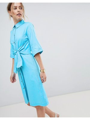 Closet London Shirt Dress With Waist Tie