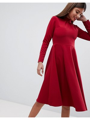 Closet London simple midi skater dress