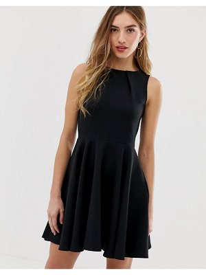 Closet London sleeveless skater dress in black