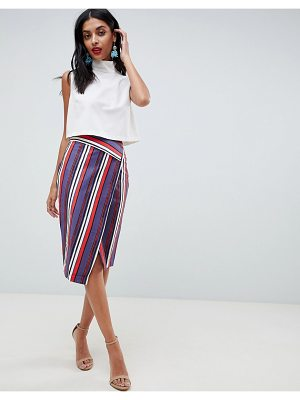 Closet London stripe pencil skirt