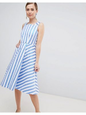 Closet London striped midi prom dress