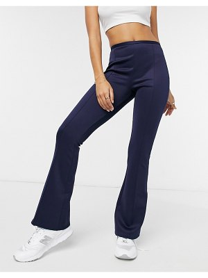 Closet London tailored flare pant in navy