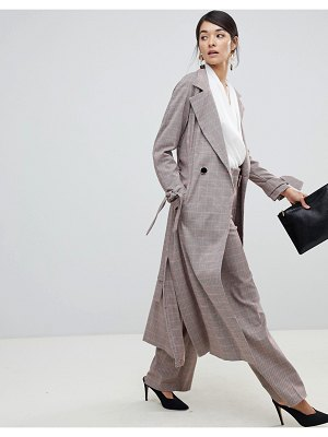 Closet London trench coat with tie sleeve