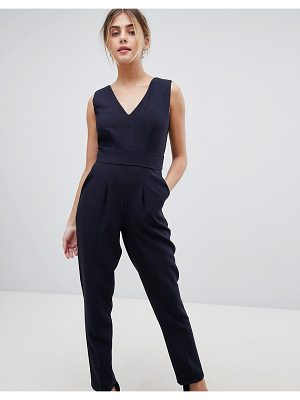 Closet London Wrap Front Tailored Jumpsuit