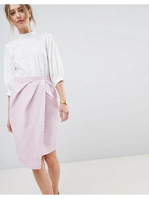 Closet London wrap midi skirt