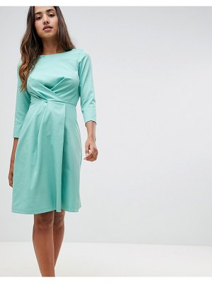 Closet London wrap over pleated dress