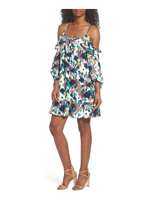CLOVER AND SLOANE clove and sloane fly away ruffle cold shoulder dress