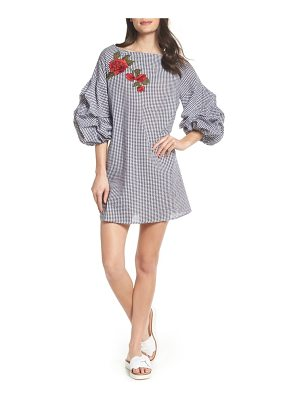 CLOVER AND SLOANE clover & sloane ruched sleeve shift dress
