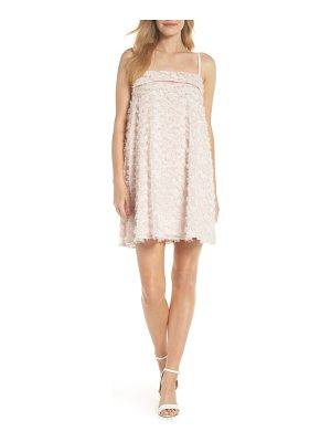 CLOVER AND SLOANE eyelash chiffon trapeze minidress
