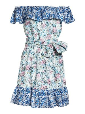 CLOVER AND SLOANE floral off the shoulder dress