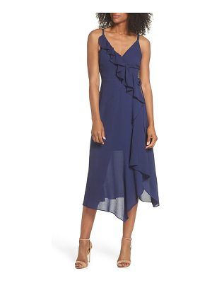 CLOVER AND SLOANE georgette faux wrap dress