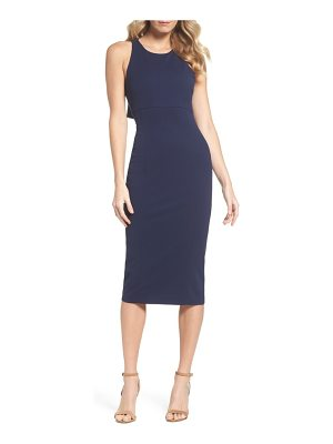 CLOVER AND SLOANE open back sheath dress