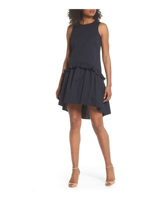 CLOVER AND SLOANE sleeveless ruffle high/low dress